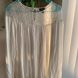 Ivory top with lace detailing